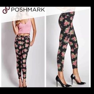 Guess floral skinny jeans
